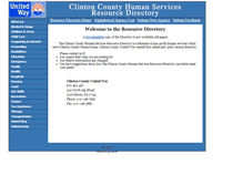 Tablet Preview of clintoncountyresources.org